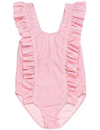 5f5aadf1b89ae Sixcup 0-18 Months Baby Girls Swimsuit Striped One Piece Swimdress Ruffles Bathing  Suit Swimwear