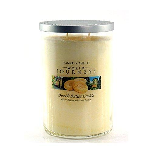 Yankee Candle World danesa viajes largos o mantequilla aroma a fragancia para el hogar para galletas con fragancia de relleno de tarro vaso 22 oz