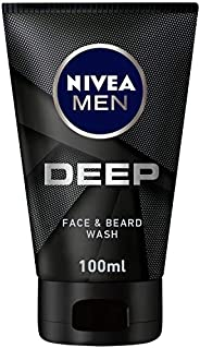 NIVEA MEN DEEP Cleansing Face & Beard Wash, Active Charcoal, 1