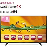 "LG 49UF6807 - Televisor LED de 49"" con Smart TV (2160x3840 4K, 900 Hz, 16:9, DVB-S2, HDMI, USB), negro"