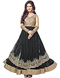 VIHA Women's Embroidered Net Unstitched Dress Materials