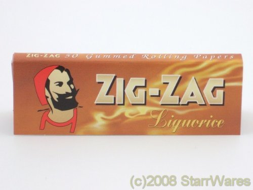 ZIG ZAG Liquirizia cartine per Sigarette-10Pacchetti