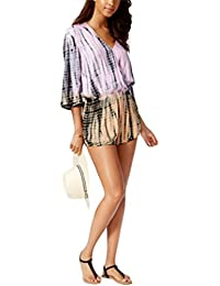388bf1ad87f Raviya Ombre Tie-Dyed Romper Cover-up Women's Swimsuit Pink Large