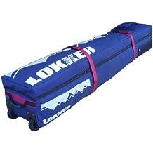 LOKKER doble bolsa con ruedas para tabla de snowboard (gran rígida equipaje con ruedas.