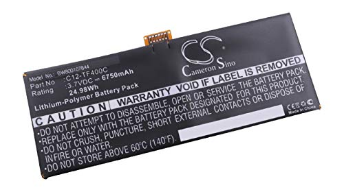 vhbw Batterie Li-Polymer 6750mAh (3.7V) pour Netbook, Tablette ASUS VivoTab Smart ME400c. Rempalce: C12-TF400C.