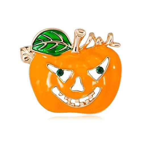 Hallowmas Party Requisiten Kostüm Masken New Cute Halloween Emaille Kürbis Licht Strass Brosche for Allerheiligen Allerheiligen (Color : Al426-a) (Weihnachten Im Zusammenhang Kostüm)