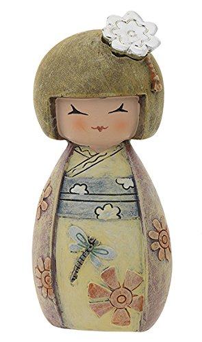 Profumatore kokeshi - portafortuna - kenta salute e forza - colorata - h cm 10 con scatola e fragranza made in italy