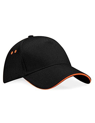 Beechfield Unisex Baseballkappe Ultimate (Einheitsgröße) (Schwarz/Orange) one size,Schwarz/Orange