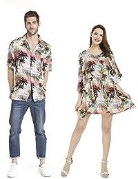 7eb2e2b72 Hawaii Hangover Luau Aloha - Poncho a Juego para Parejas con Vestido de neón