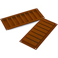 Silikomart 26.184.77.0065 SF 184 My Snack Moule Rectangulaire pour Chocolat Silicone Marron 32,5 x 12,5 x 2 cm