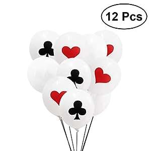 TOYMYTOY 30cm Palloncini poker carte da gioco   Casinò gioco Decorazione per feste, 12 pezzi