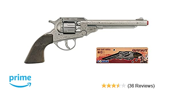 Wildwest Pistole inklusive Munition 36 x 8 Schuss Cowboy Colt mit Platzpatronen