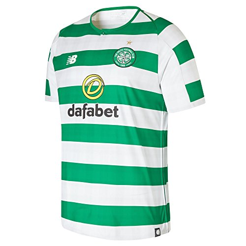 3880748f551 New Balance Hombres del Celtic FC Seguidores Jersey, Hombre, Color  White/Celtic Green