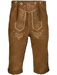 Herren Trachten Lederhose Kniebundhose mit Trägern in verschiedenen Farben, Trachtenlederhose in Größe 46 bis 60