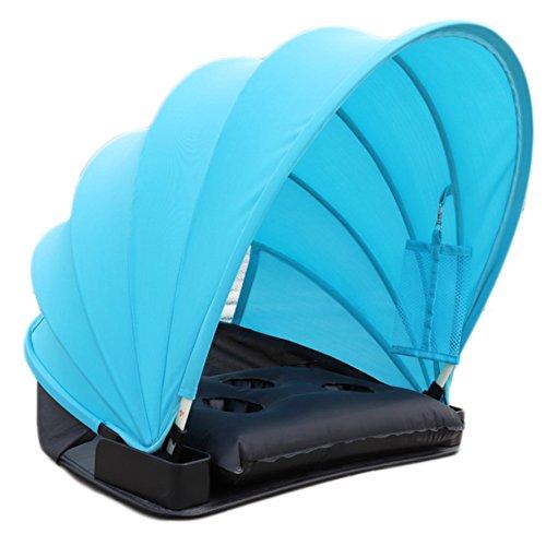 Pop Up Zelt UV50+, Samber Mini Strand Zelt Automatik Strandmuschel Sonnenschutz UV-Schutz Strandzelt mit Multifunktionales Kissen, Strandmatte und Handy Hängen Tasche