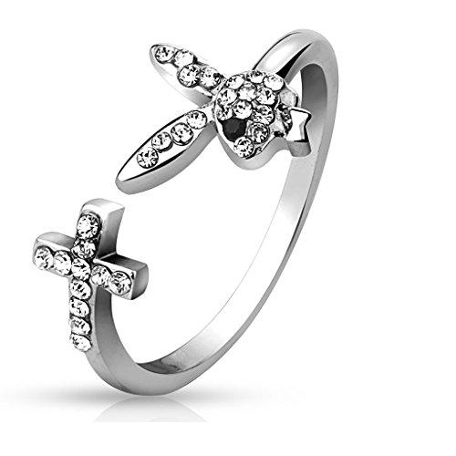 coolbodyart-playboy-bunny-e-croce-con-zirconi-anello-regolabile-in-argento-anello-da-donna-anello-da
