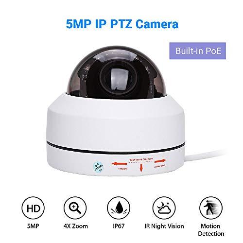 Elikliv WLAN IP Kamera mit 4X optischem Zoom HD 1080p Mini Onvif WiFi IP-Kamera 5MP PoE Überwachungskamera Smart Home WiFi Sicherheitskamera Sicherheit für Baby und Haustier (Baby-zoom-wifi-kamera)