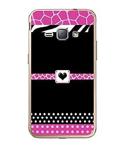 PrintVisa Designer Back Case Cover for Samsung Galaxy J1 (6) 2016 :: Samsung Galaxy J1 2016 Duos :: Samsung Galaxy J1 2016 J120F :: Samsung Galaxy Express 3 J120A :: Samsung Galaxy J1 2016 J120H J120M J120M J120T (Polka Dots Dotted Heart Love Black)