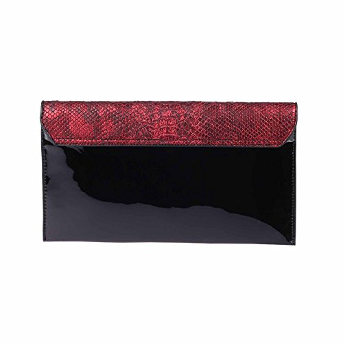 OBC Only-Beautiful-Couture, Poschette giorno donna argento argento ca.: 30x16x3 cm (BxHxT) Rot