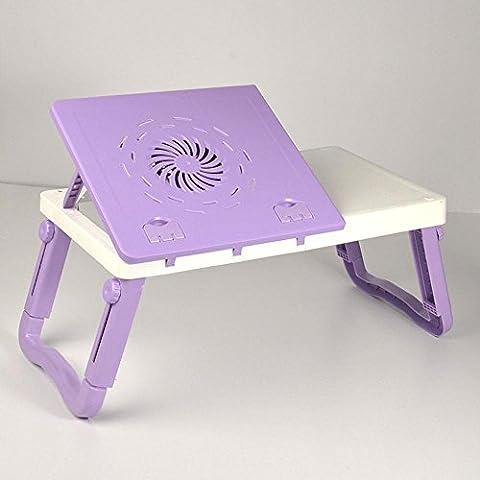 uzi-lazy personas bienestar moda simple Laptop Escritorio Cama, dormitorio plegable escritorio ventilador disipador de calor, cuatro colores