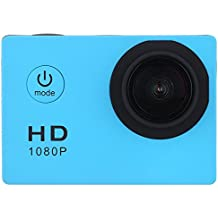 Sufeng Waterproof Full HD 1080P Sports Action Camera DVR Cam DV Video Camcorder (Sky Blue)