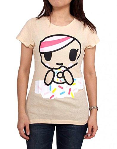 Tokidoki schiacciata donut Juniors crema bianco t-shirt White xl