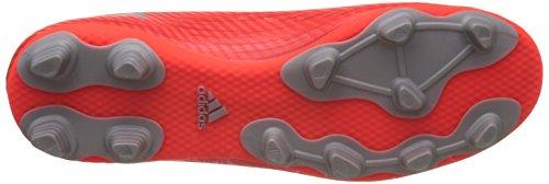 adidas Herren X 16.4 Fxg Fußballschuhe, Silberfarben, UK Rot (solar Red/silver Met,/hi-res Red)