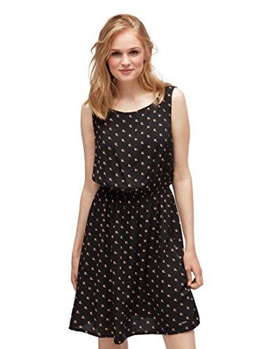 TOM TAILOR Denim für Frauen Kleider & Jumpsuits Gemustertes Kleid Minimal Tropical Black Allover, L