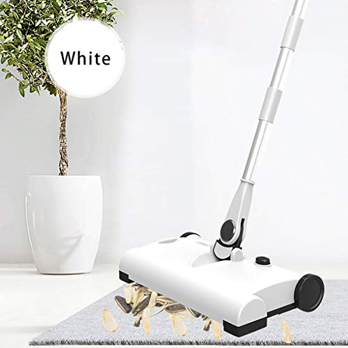 ToDIDAF Electric Sweeper Mop Cleaner, Smart Hand Push Wireless Charging Household Cleaning Machine, 360 degree No Dead Angle Cleaning, Good Gift for Family/Father\'s Day/Friend (White)