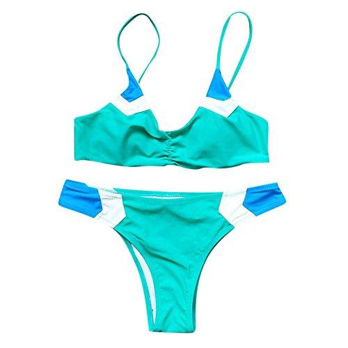Italily -Bikini da spiaggia Costume da bagno in misto colore nylon, Green