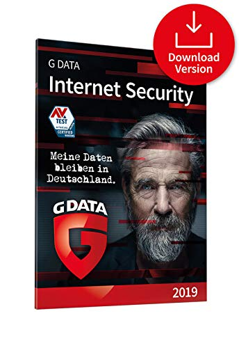 G DATA Internet Security (2019) / Antivirus Software / Virenschutz für 3 Windows-PC / 1 Jahr / Trust in German Sicherheit  [Download]