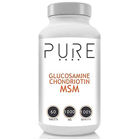 Bodybuilding Warehouse Pure Sulfate De Glucosamine, Chondroïtine & MSM - 60 Tablets