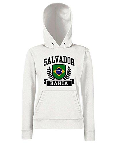 T-Shirtshock - Sweats a capuche Femme TSTEM0084 salvador bahia brazil Blanc