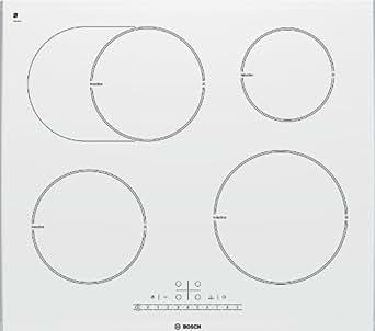 Bosch PIB672F17E plaque - plaques (Intégré, induction, Blanc, senseur, En haut devant, 220 - 240 V)