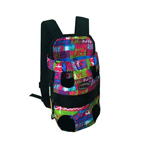 GUOCU Pet Hunde Rucksack Carrier vorne Pack verstellbar Katze Outdoor Travel Bag Blume M