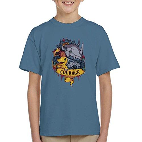 Courage Tattoo Style Greymon Digimon Kid's T-Shirt