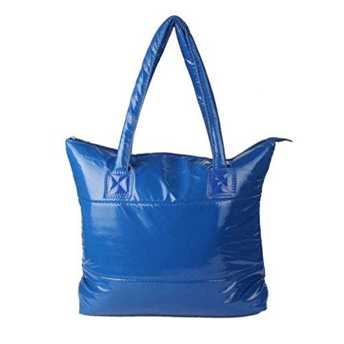LETTER Women Girl Space Bale Cotton Totes Handbag Feather Down Shoulder Bag 1PC (Blau) (Shoulder Vertical Womens Tote)