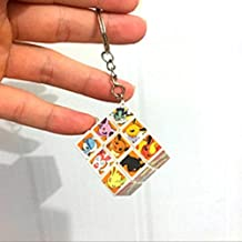 Kidzel Pokemon Cartoon New Cube Brain IQ Puzzle Key hain Generic Toy + Free one Mini Toy Figure