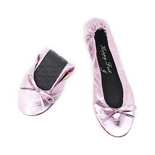 Happy Feet Ladies Fold Up Shoes – Foldable Ballet Pumps Various Sizes...
