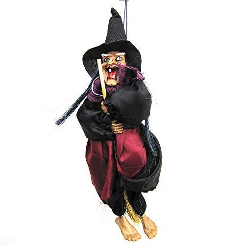 Imixcity Halloween Decoraciones - Fantasmas Colgantes - Control Vocal Decoración Demonio Colgante para KTV Haunted House Bar (Comando Vocal) (Control por Voz) (B#Bruja)