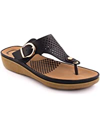 Unze New Women 'Terrence' Toe Post Eté Beach Party Get Together School Carnival Chaussons plats Casual Chaussures Royaume-Uni Taille 3-8