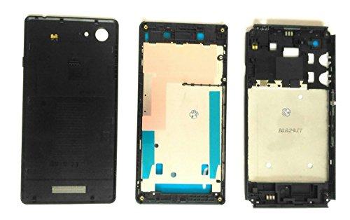 PS FORTUNET Full Housing Body case for Sony Xperia E3 Dual D2212 CAM Lens with NFC Sensor (Sony E3 Dual Body Black)