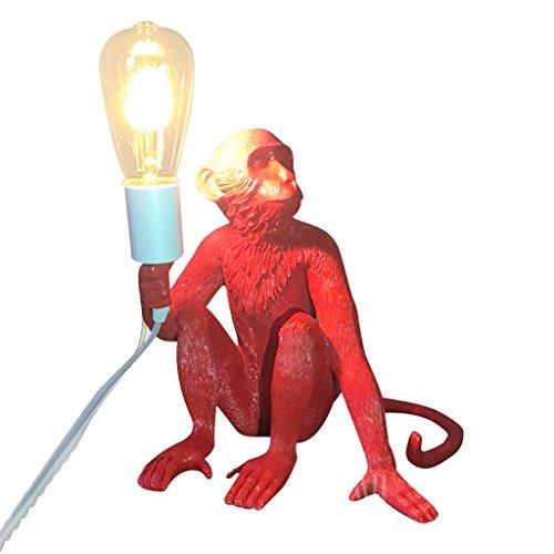ZWD Animal lampe de table de bande dessinée, magasin de vêtements rouge créatif résine Lustre Chambre d'enfants couleur multiple décoration lustre corde de chanvre lustre lampe murale Luminaire ( Couleur : A )