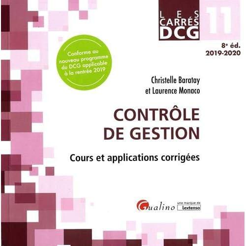 Contrôle de gestion DCG 11 : Cours et applications corrigées