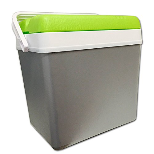 JEMIDI Kühlbox 24 Liter Isolierbox Kühl Box in Grau/ Grün (Grün/Grau)