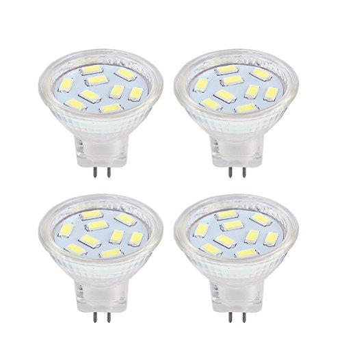 MR11 GU4 Led 12V Lampen 2W LED-Leuchtmittel, entspricht 20 W Halogen-Lampen, Kaltweiß 6000k, geeignet für Zuhause, Landschaft, eingebettet, Schienenbeleuchtung(4 er Pack) -