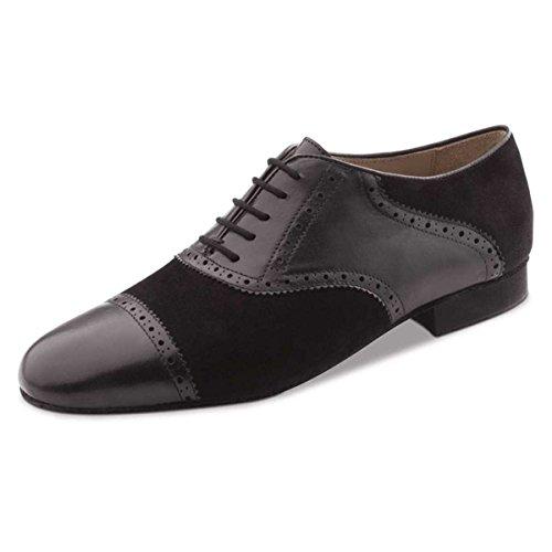 Werner Kern Hombres Zapatos de Baile 28047 - Cuero/Nobuk Negro - 2 cm Ballroom [UK 9,5]