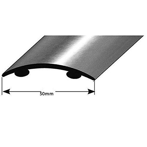 Profilo di transizione / 50 mm / autoadesivo / tipo: 155 (acciaio inossidabile opaco, 1,5 (Acciaio Per Scale Ferroviaria)