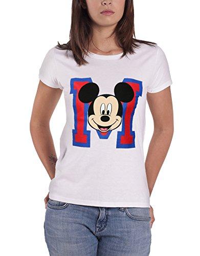 se T Shirt Varsity M Face Disney Nue Damen Skinny Fit ()