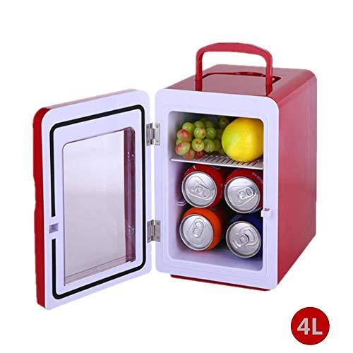 Bingxiang Auto Kühlschränke Tragbare Gefrierschrank Mini Kühlschrank Packs Rote Transparente Tür Usb Netzkabel Reise Picknicks Wein Camping 4L - Mini-kühlschrank Transparent